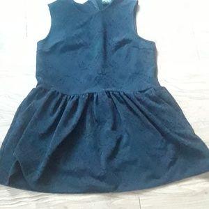 Black Patterned Formal Dress